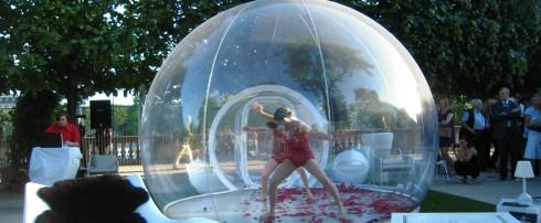 Une bulle au service de la danse : Introspectus