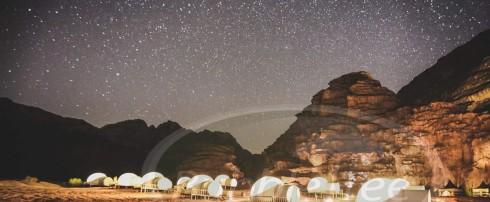 BubbleTree Luxury Camp : filmé par un drone en Jordanie