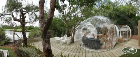 Bubble Lodge sur le site protégé de l'île Maurice